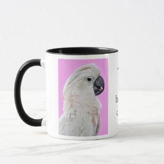 Cockatoo-Vogel-Porträt Tasse