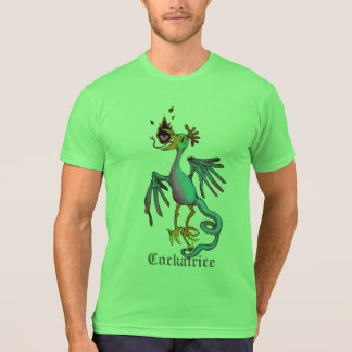 Cockatrice-mittelalterliches Tier-Grafik-T-Stück T-Shirt