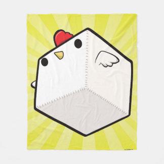 Cockblock umfassender niedlicher Huhnwürfel Fleecedecke