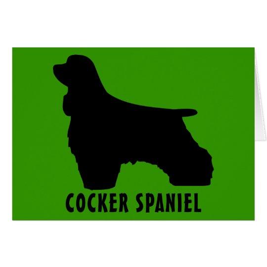 Cocker spaniel grußkarte