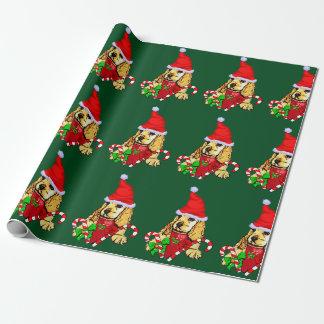 Cocker spaniel-Welpen-Weihnachten Geschenkpapier