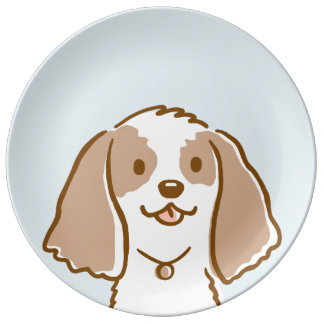 Cockerspaniel-Cartoon-Hund Teller