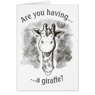 Cockney-reimende Jargon-lustige Giraffe Karte
