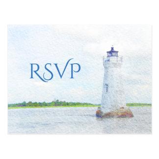 Cockspur-LeuchtturmWatercolor UAWG Postkarte