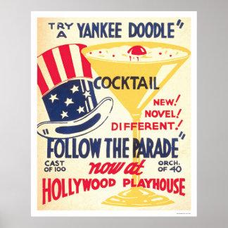 Cocktail de griffonnage de Yankee WPA 1938 Posters