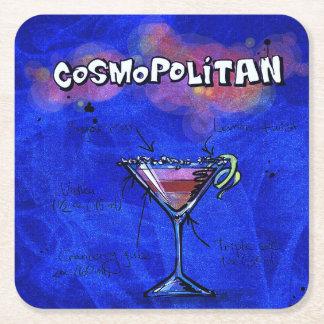Cocktail-Party-Untersetzer-Sammlung - Cosmo Rechteckiger Pappuntersetzer