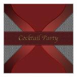 Cocktail rouge et noir élégant moderne Invitati Invitations Personnalisables