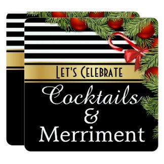 """""""Cocktail-u. Belustigungs-"""" Feiertags-Party Quadratische 13,3 Cm Einladungskarte"""