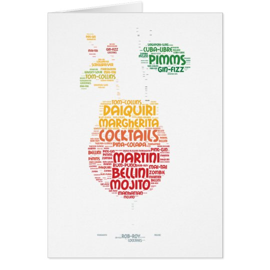 Cocktailglas Grußkarte