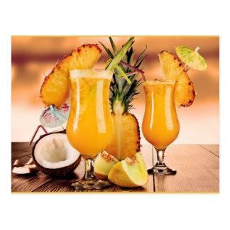 Cocktails Postkarte