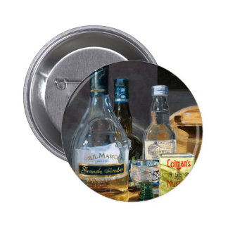 Cocktails und Senf Runder Button 5,7 Cm