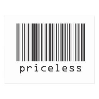 Code barres - inestimable carte postale