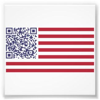 Code der Flagge-Nationalhymne-QR Fotografische Drucke
