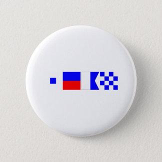 Code-Flagge Sean Runder Button 5,1 Cm