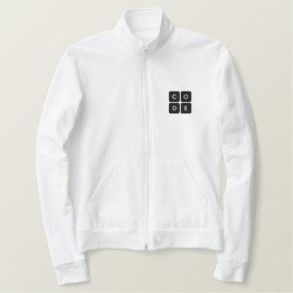 Code.org stickte Logo-Polo Bestickte Jacke