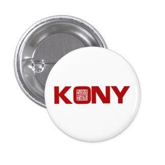 Code visuel Joseph Kony du rouge QR de Kony 2012 Badge Avec Épingle