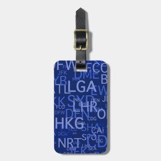 Codes personnalisés d'aéroport étiquettes de bagages