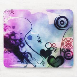 Coeur abstrait tapis de souris