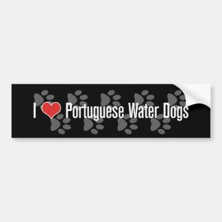 (Coeur) chiens d'eau I portugais Autocollant De Voiture