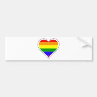 Coeur d'arc-en-ciel de gay pride autocollant de voiture