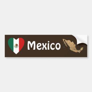 Coeur de drapeau du Mexique + Adhésif pour pare-ch Autocollants Pour Voiture