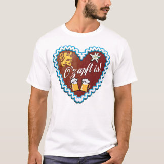 Coeur de gâteau de vie O'zapft is fête de la bière T-shirt