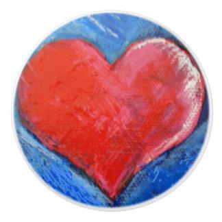 Coeur en céramique de bouton