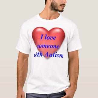 coeur, j'aime l'autisme de someonewith t-shirt