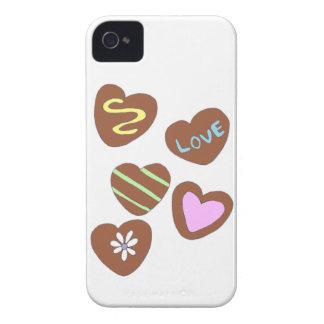 Coeurs de chocolat coques Case-Mate iPhone 4