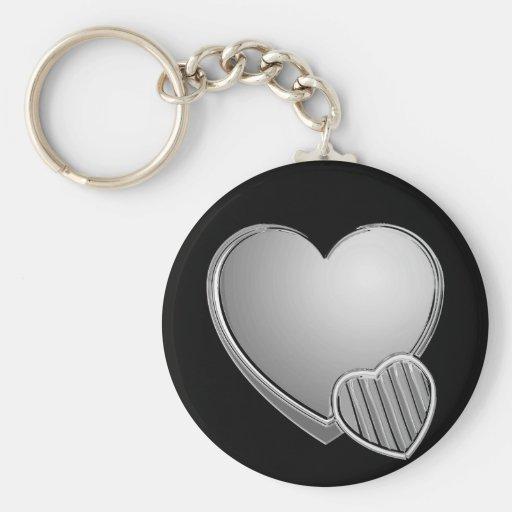 Coeurs de chrome porte-clef