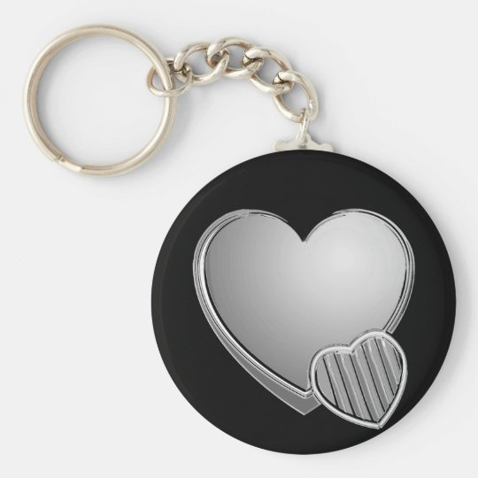 Coeurs de chrome porte-clés