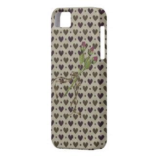 Coeurs et iPhone savoureux 5 de Coque-Compagnon de Étuis iPhone 5