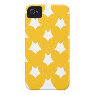 Coeurs liés par orange coques Case-Mate iPhone 4