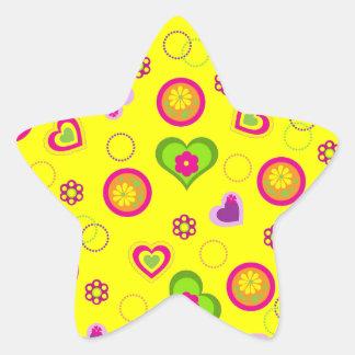 Coeurs lunatiques stickers en étoile