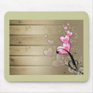 Coeurs rose tapis de souris