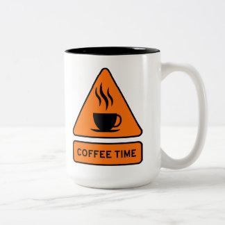 Coffee Time Hazard 15oz Mug Zweifarbige Tasse