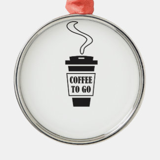 coffee to go silbernes ornament
