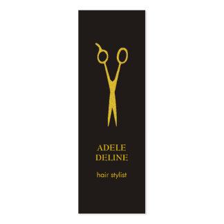 Coiffeur gris élégant minimaliste d'or carte de visite petit format