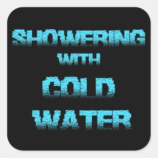 Coldwater Quadratischer Aufkleber