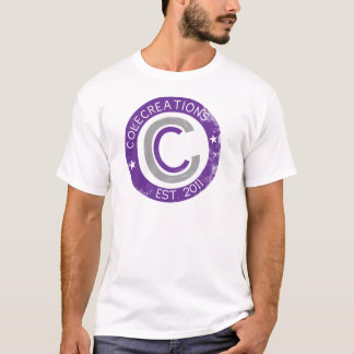 Colecreations stellte T-Shirts her (lila u. grau)