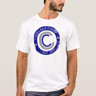 Colecreations stellte T-Stück her (blau u. weiß) T-Shirt