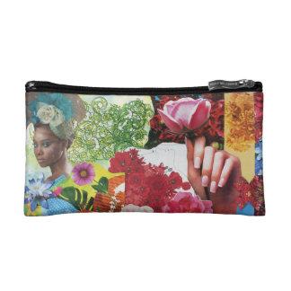 Collage de flower power trousse de maquillage