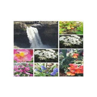 Collage der Schönheit Leinwanddruck