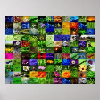 Collage d'impression de toile de Leinwanddruck Lei Poster