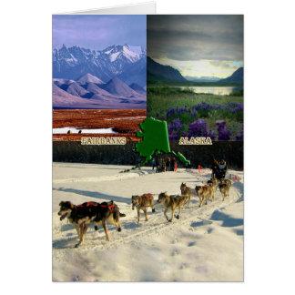 Collage Fairbanks, Alaska Karte