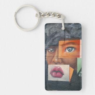 Collagen-Gesicht Keychain Schlüsselanhänger