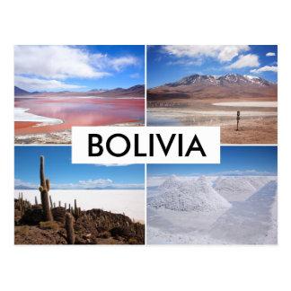 Collagenpostkarte Boliviens Salar de Uyuni Postkarte