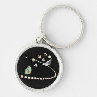 Collagenprämie keychain silberfarbener runder schlüsselanhänger