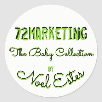 collection de commercialisation du bébé 72 sticker rond