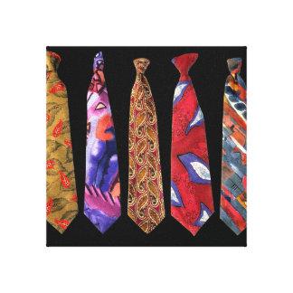 Collection de cravate de concepteur sur la toile impressions sur toile